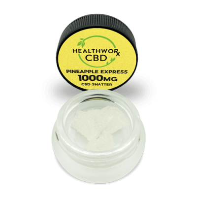 1000MG Pineapple Express CBD Shatter - Pure CBD Crystal - Hemp Isolate - Hemp CBD Isolate - Hemp CBD Crystals