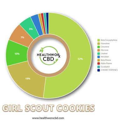 Girl Scout Cookies CBD Shatter - Terps Chart