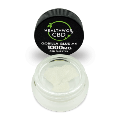 1000MG Gorilla Glue #4 CBD Shatter - Pure CBD Isolate - Hemp Isolate - Hemp CBD Isolate