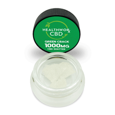 1000MG Green Crack CBD Shatter - CBD Hemp Isolate