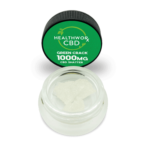 CBD Shatter - Green Crack CBD Hemp Isolate - Hemp CBD Isolate