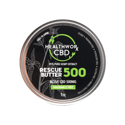 CBD Body Butter - CBD Rescue Butter - Active CBD 500MG - CBD Body & Skin Care