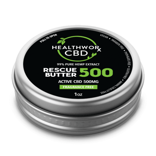 CBD Oil For Skin Care - 500mg CBD Rescue Butter - CBD Skin Care - Cbd Oil For Acne Treatment